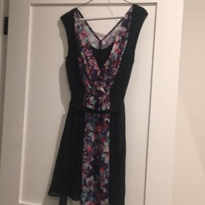 Express soft floral dress with sash